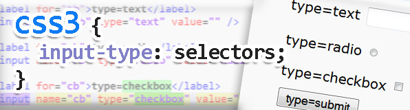 Selecting Input Elements by Type with CSS3