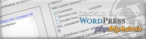 WordPress Backup with phpMyAdmin