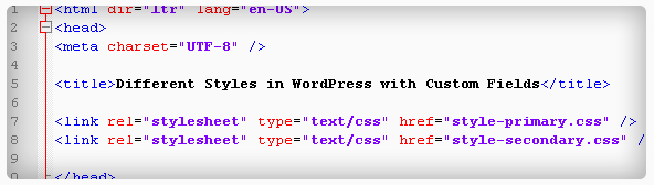 Using Custom Fields to Apply CSS Styles by Page or Post in WordPress