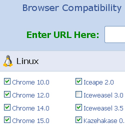 BrowserShots.org's Testing Interface